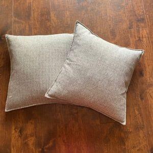 Grey Geometric Design Pillow